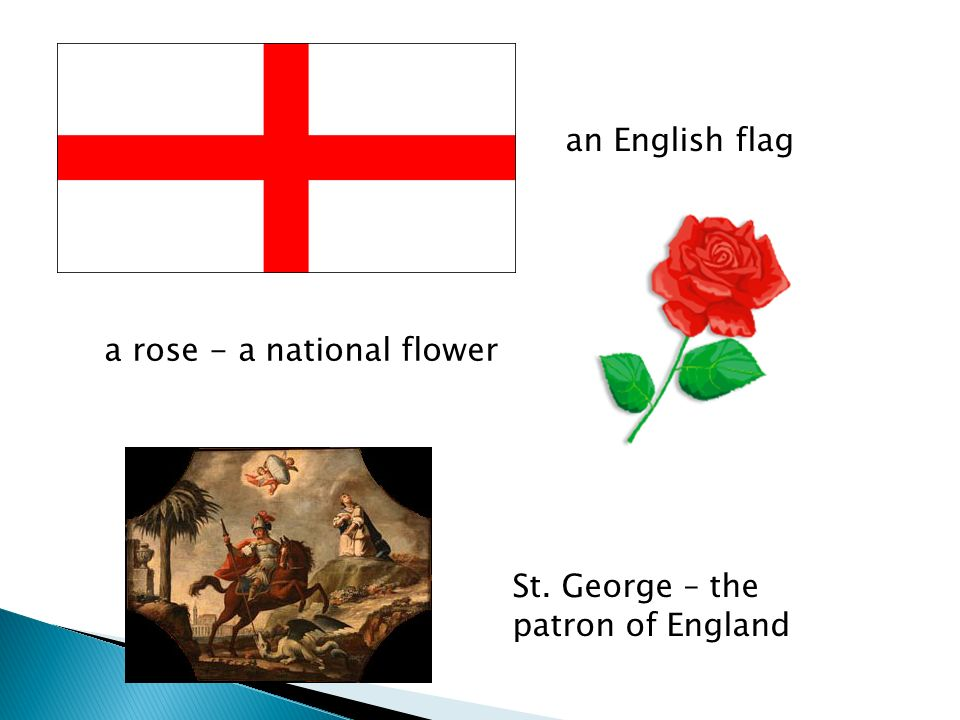 an English flag a rose - a national flower St. George – the patron of England