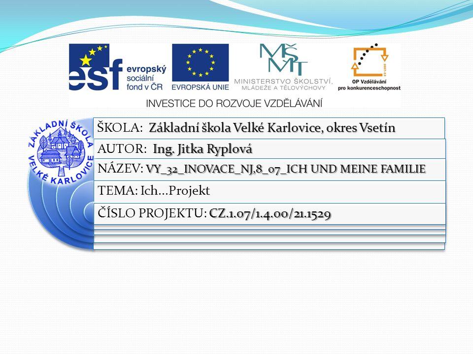 ŠKOLA: Základní škola Velké Karlovice, okres Vsetín