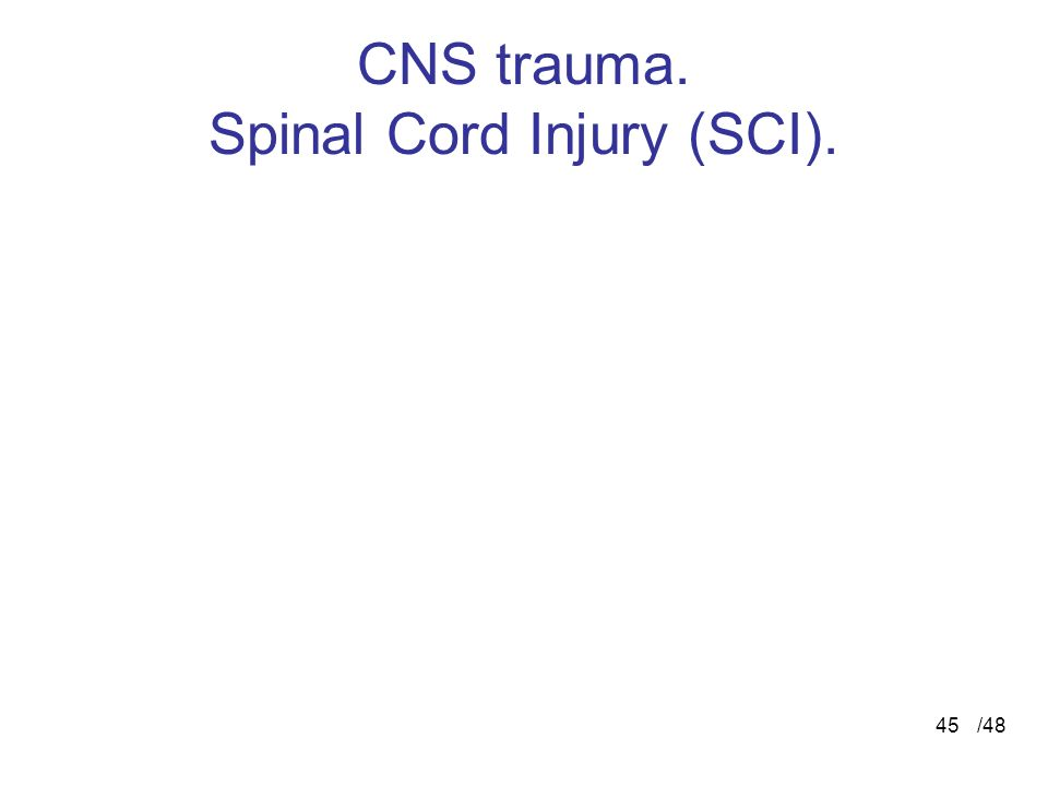 CNS trauma. Spinal Cord Injury (SCI).