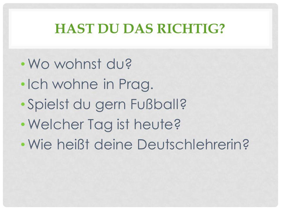 Spielst du gern Fußball Welcher Tag ist heute