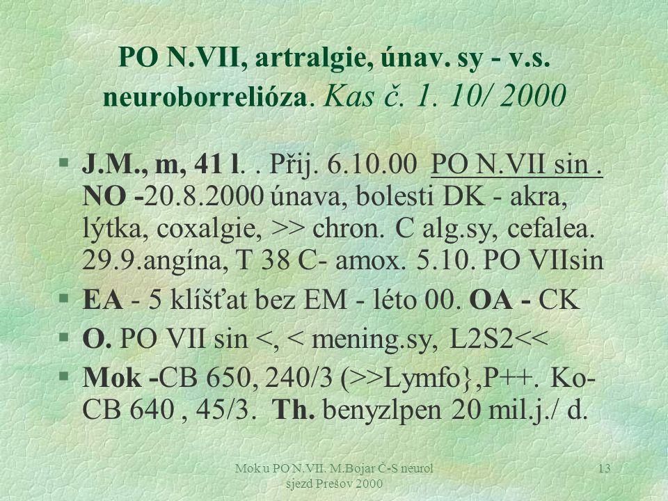 Mok u PO N.VII. M.Bojar Č-S neurol sjezd Prešov 2000