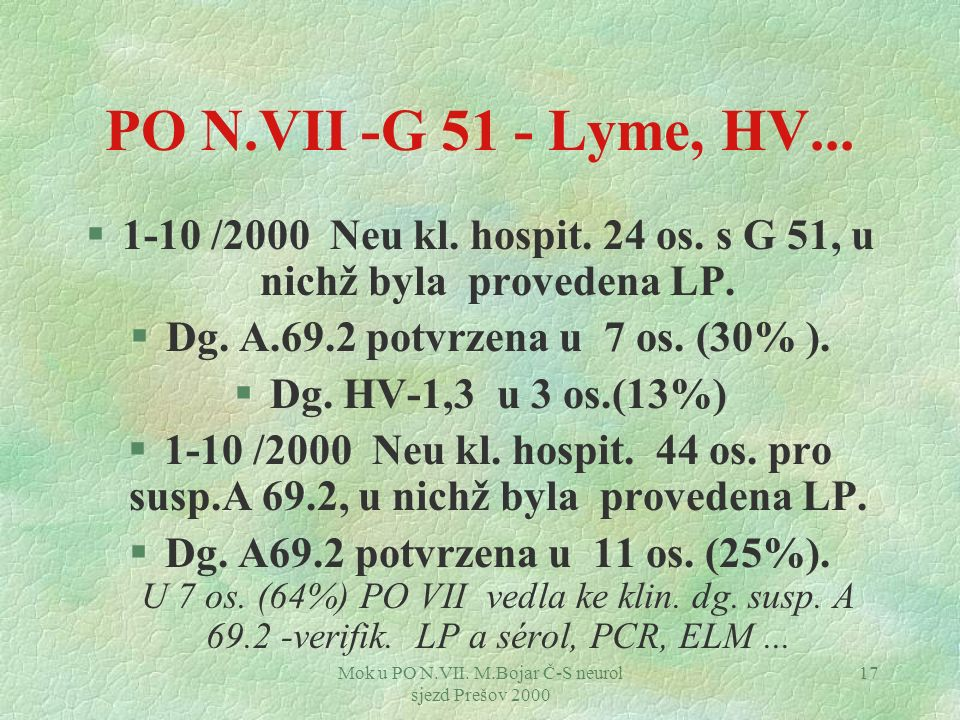 1-10 /2000 Neu kl. hospit. 24 os. s G 51, u nichž byla provedena LP.