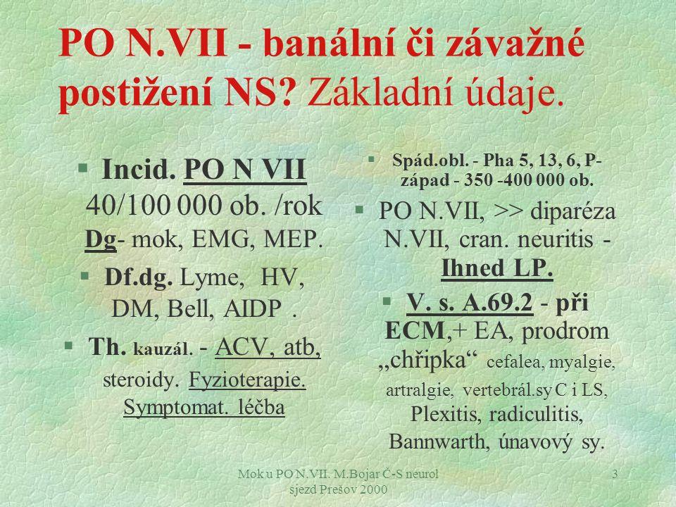 PO N.VII - banální či závažné postižení NS Základní údaje.
