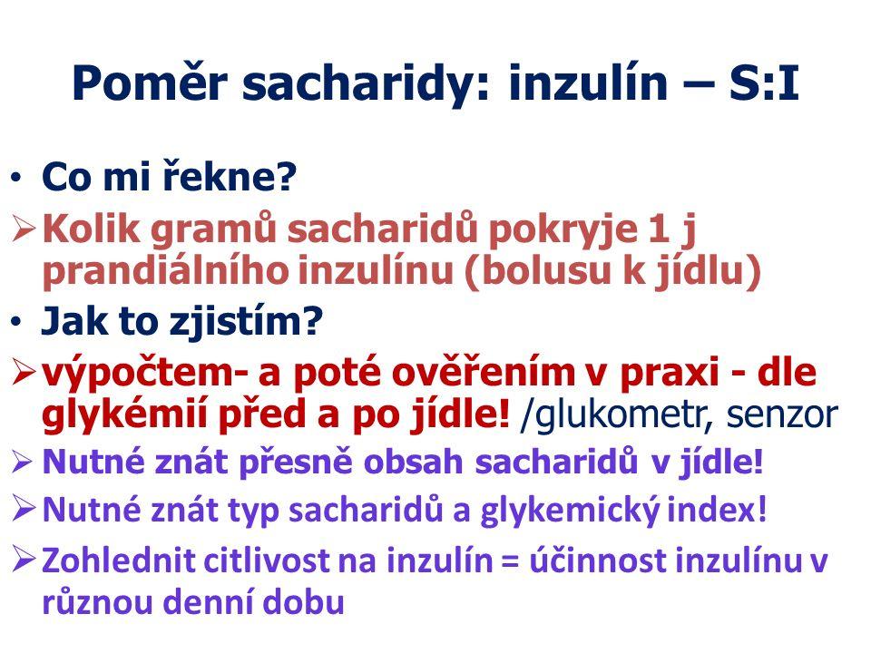 Poměr sacharidy: inzulín – S:I