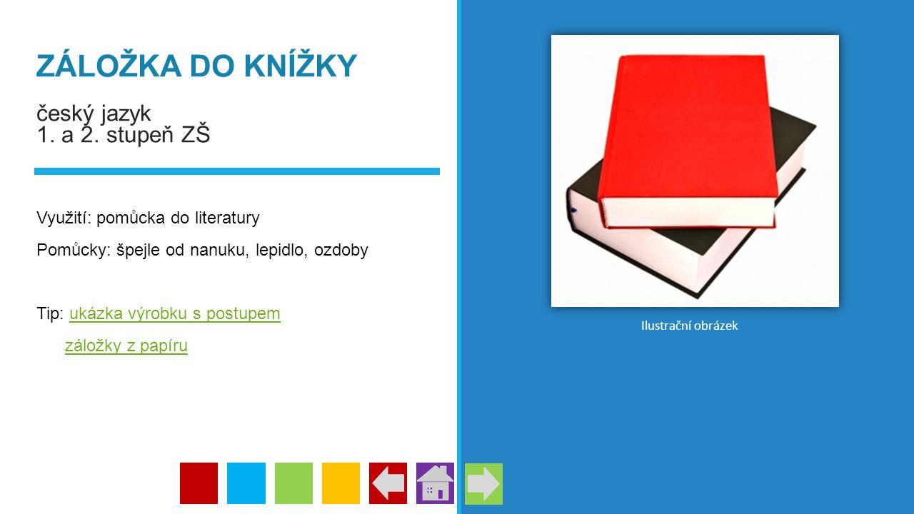 ZÁLOŽKA DO KNÍŽKY český jazyk