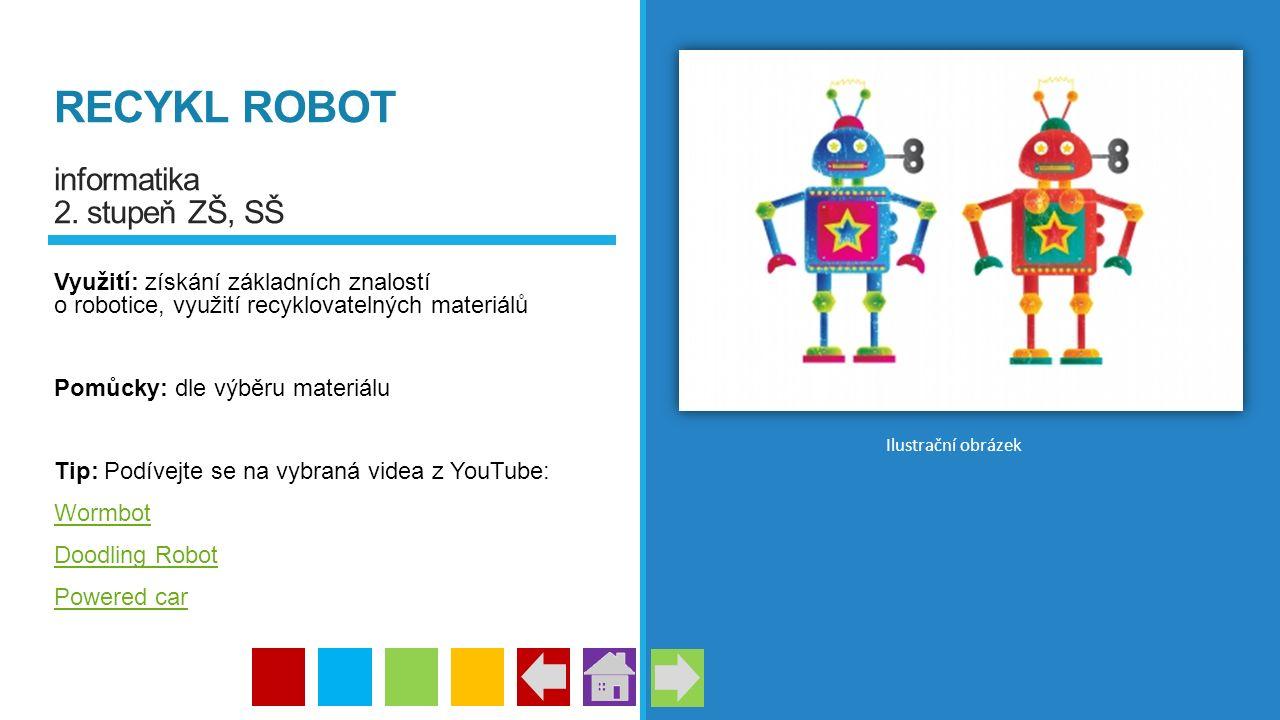 RECYKL ROBOT informatika 2. stupeň ZŠ, SŠ