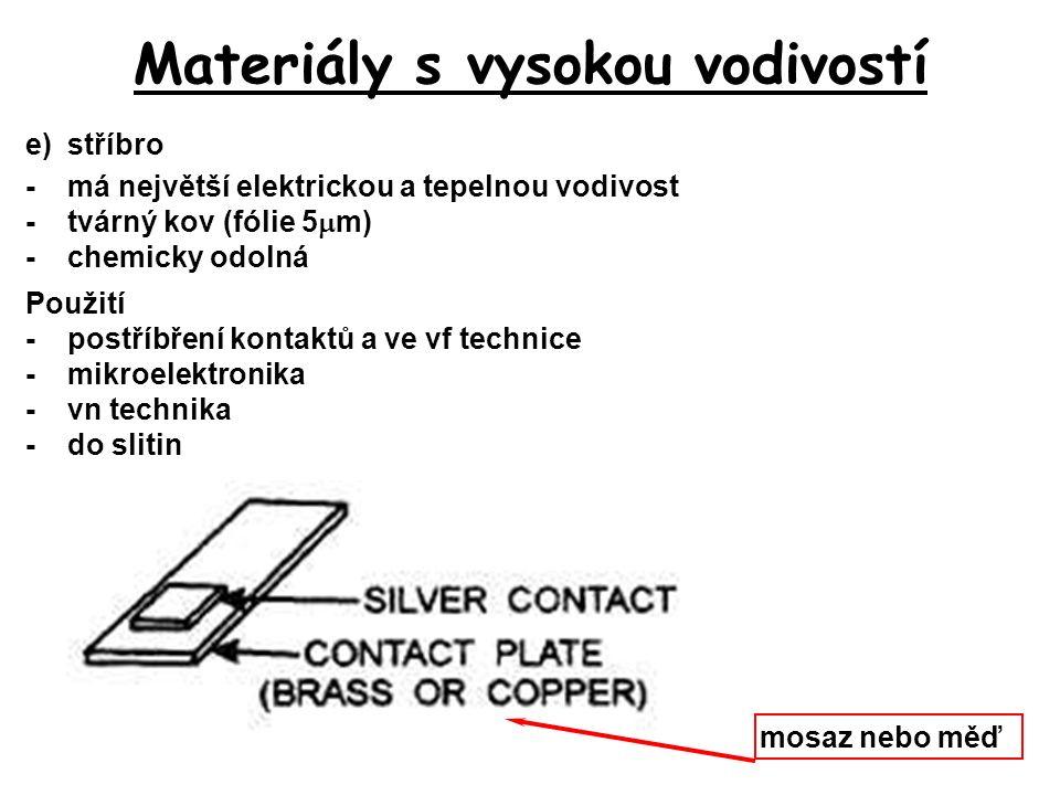 Materiály s vysokou vodivostí