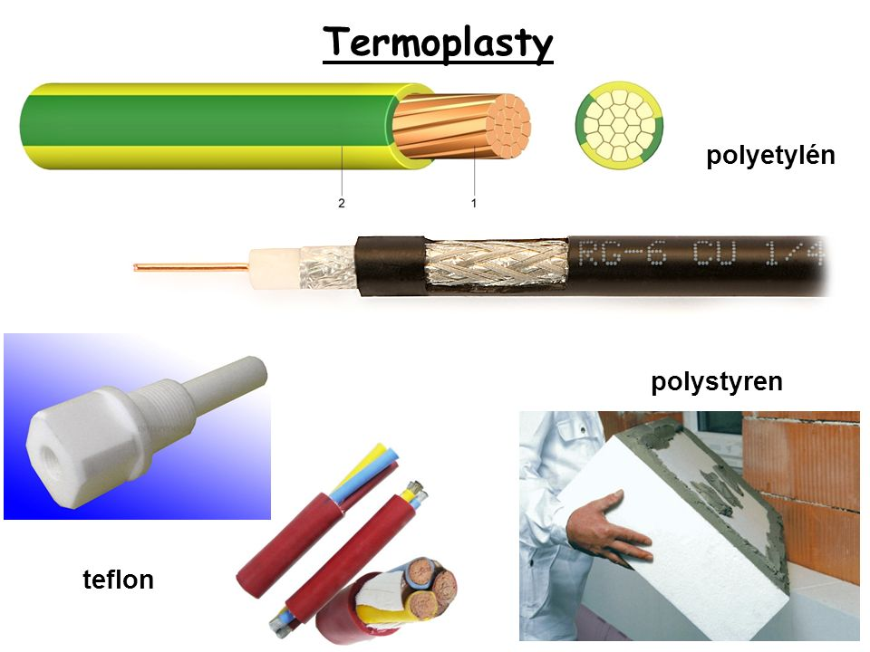 Termoplasty polyetylén polystyren teflon
