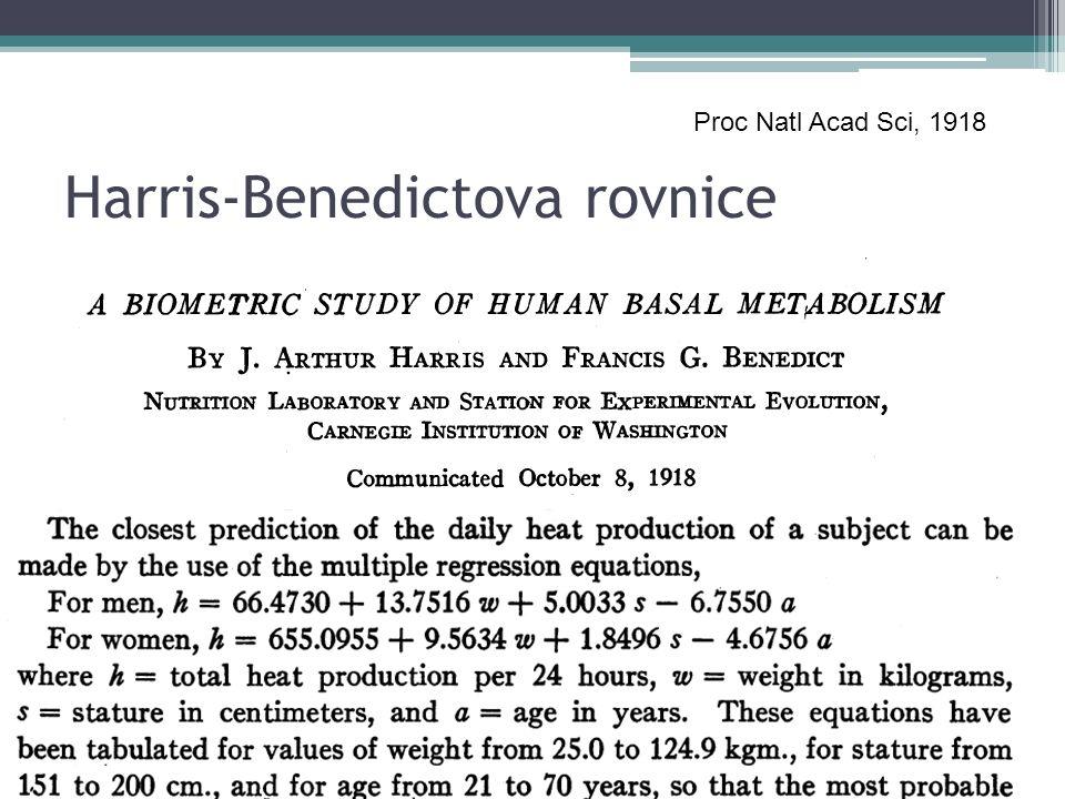 Harris-Benedictova rovnice