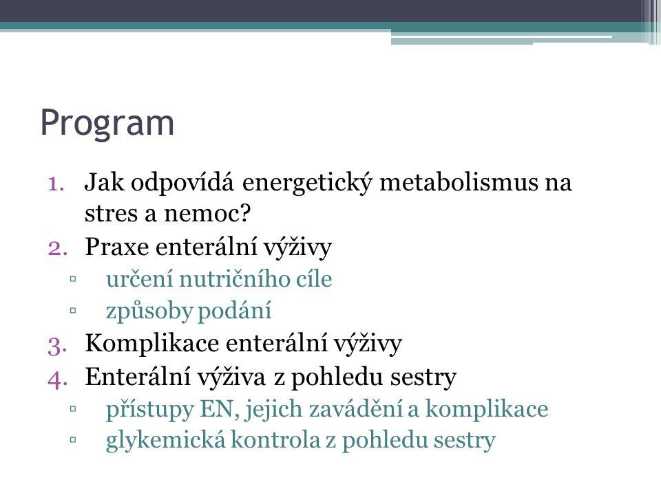 Program Jak odpovídá energetický metabolismus na stres a nemoc