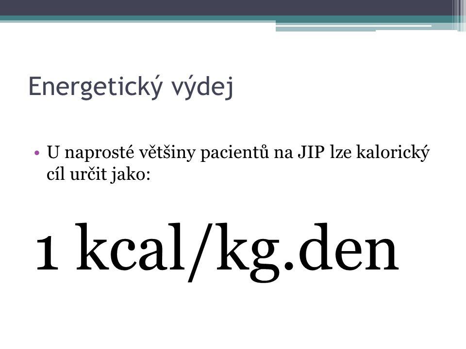 1 kcal/kg.den Energetický výdej