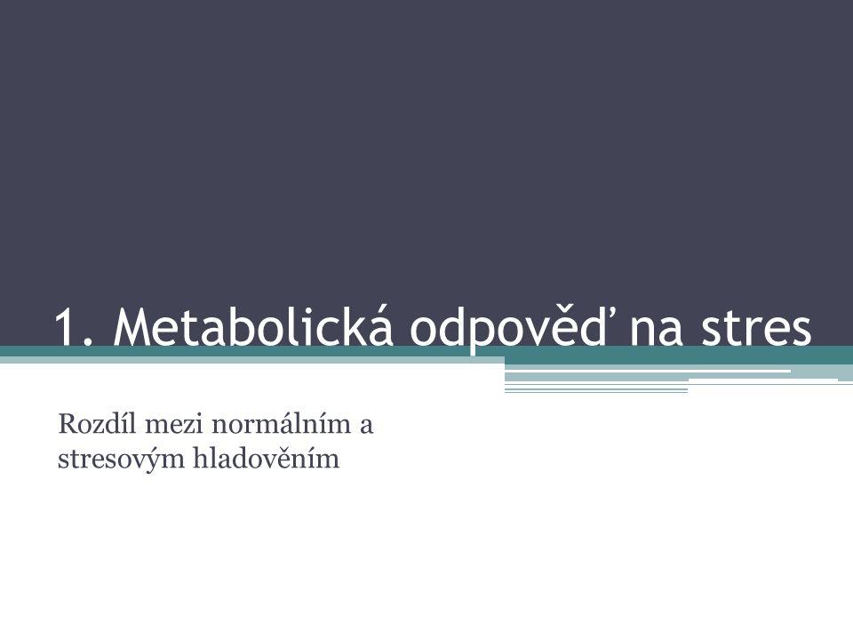 1. Metabolická odpověď na stres