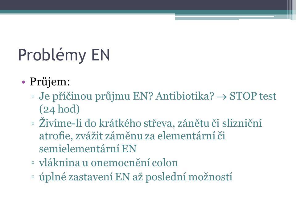 Problémy EN Průjem: Je příčinou průjmu EN Antibiotika  STOP test (24 hod)