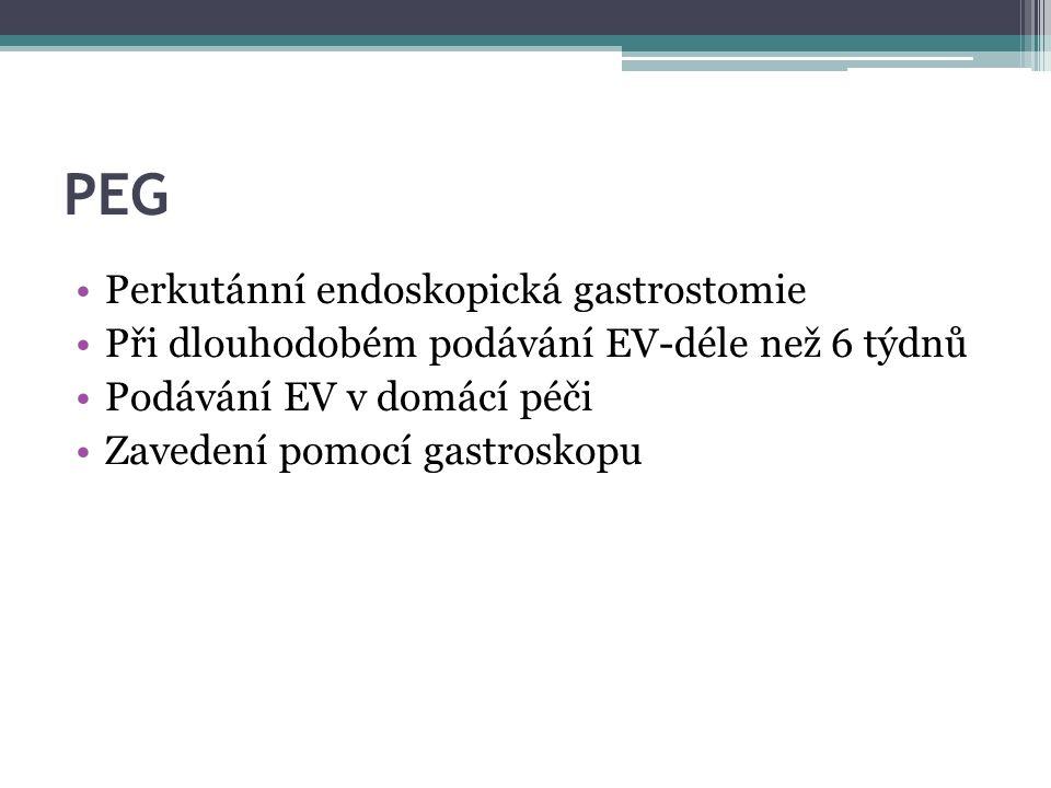 PEG Perkutánní endoskopická gastrostomie