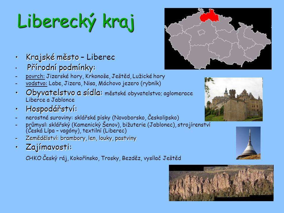 Liberecký kraj Krajské město – Liberec