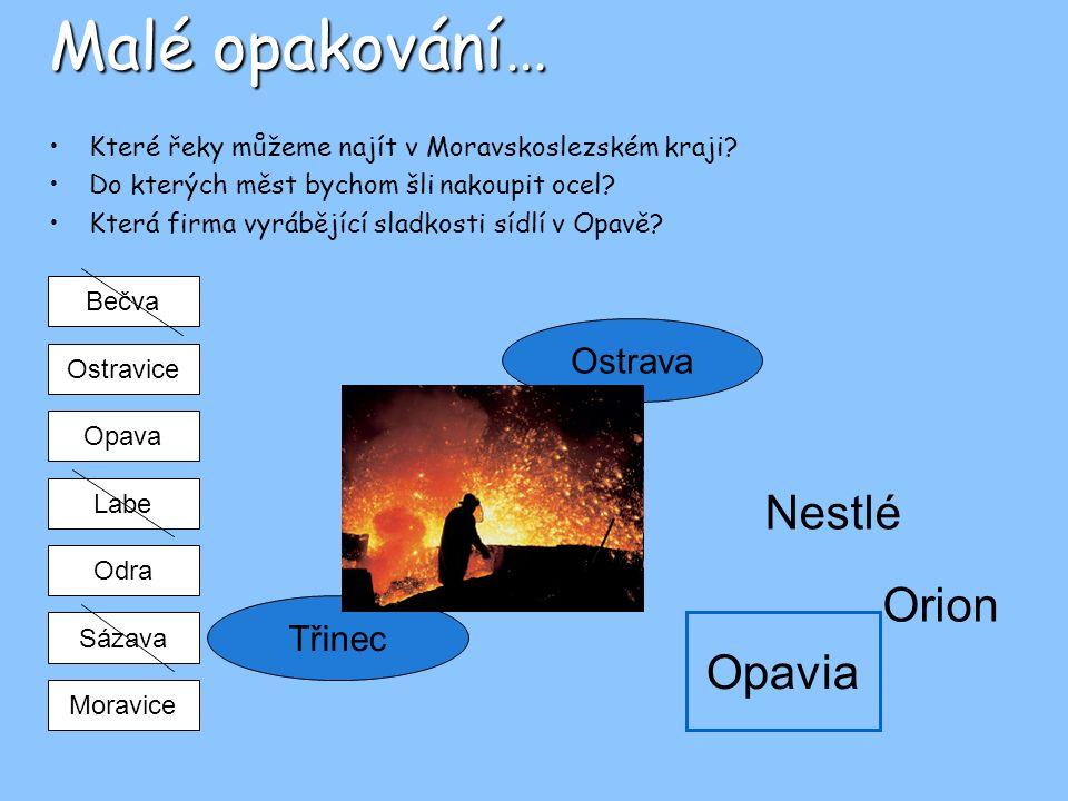 Malé opakování… Nestlé Orion Opavia Ostrava Třinec