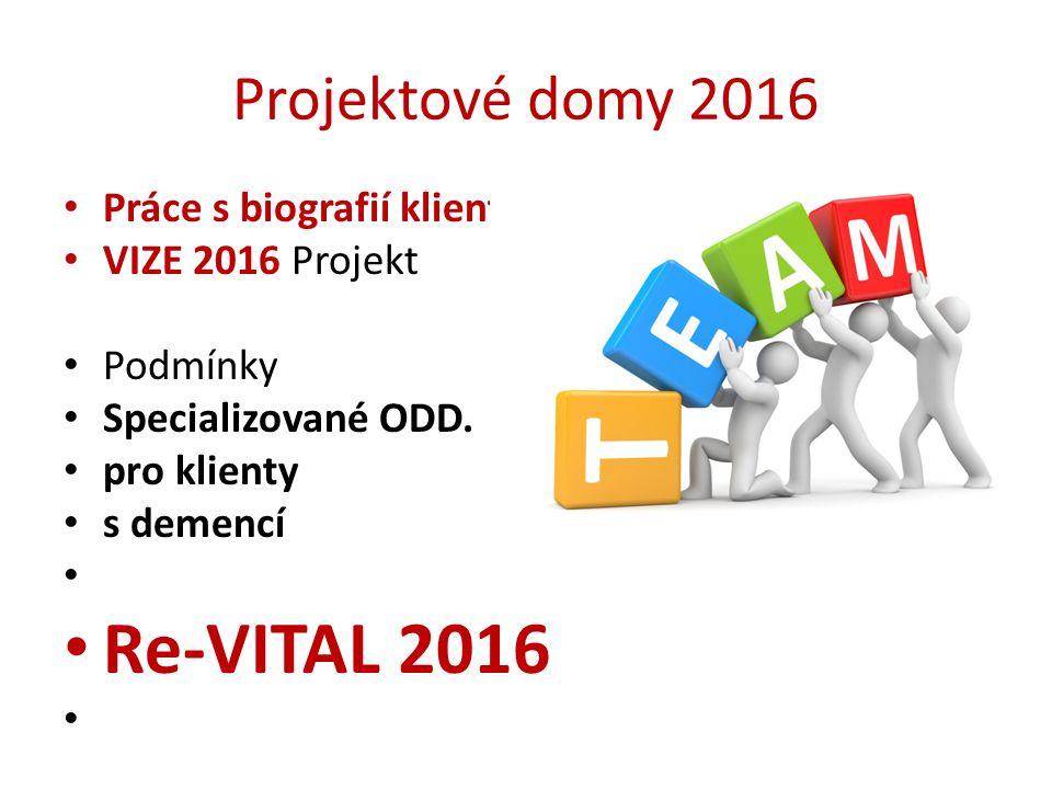 Re-VITAL 2016 Projektové domy 2016 Práce s biografií klienta