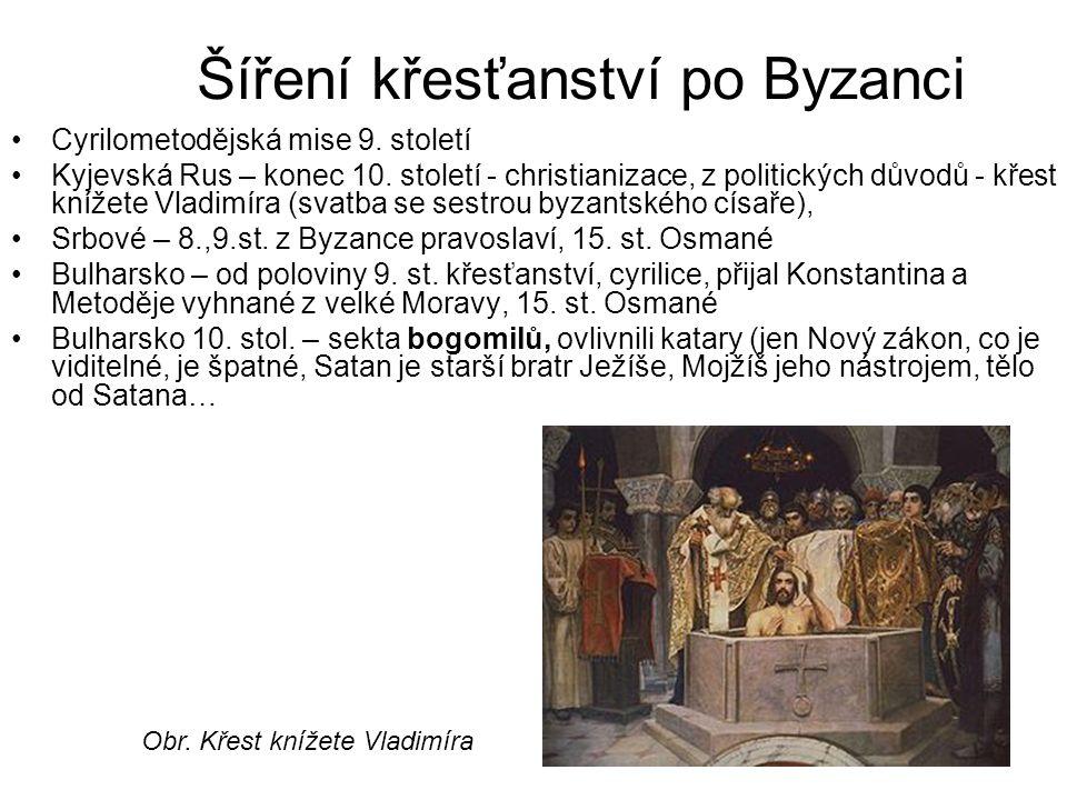 Šíření křesťanství po Byzanci