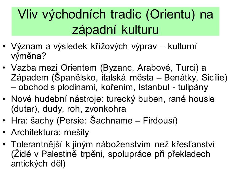 Vliv východních tradic (Orientu) na západní kulturu