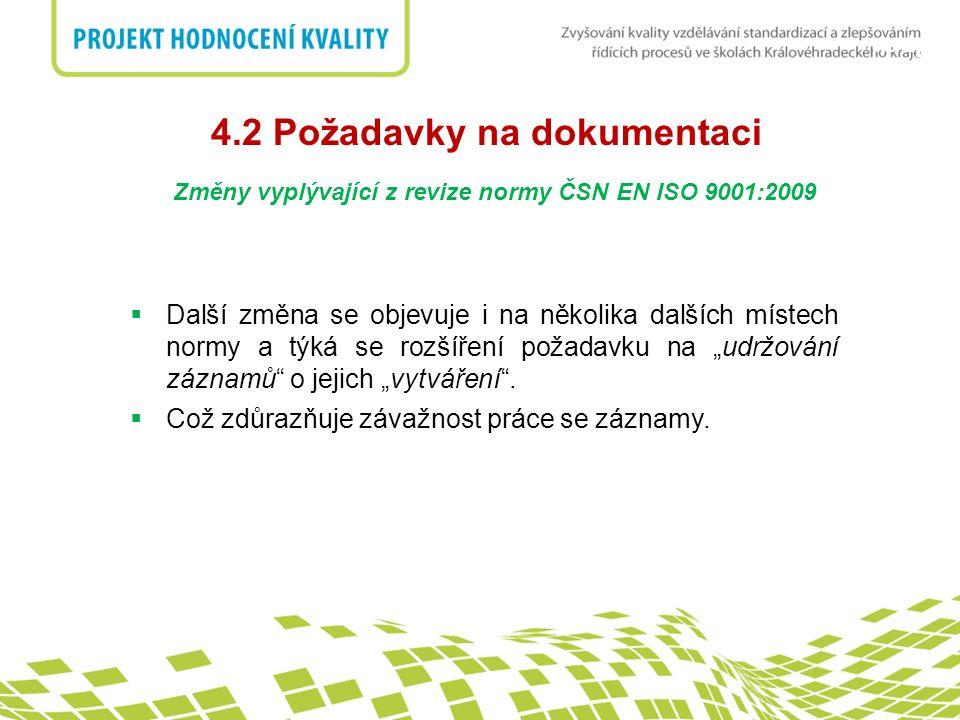 4.2 Požadavky na dokumentaci