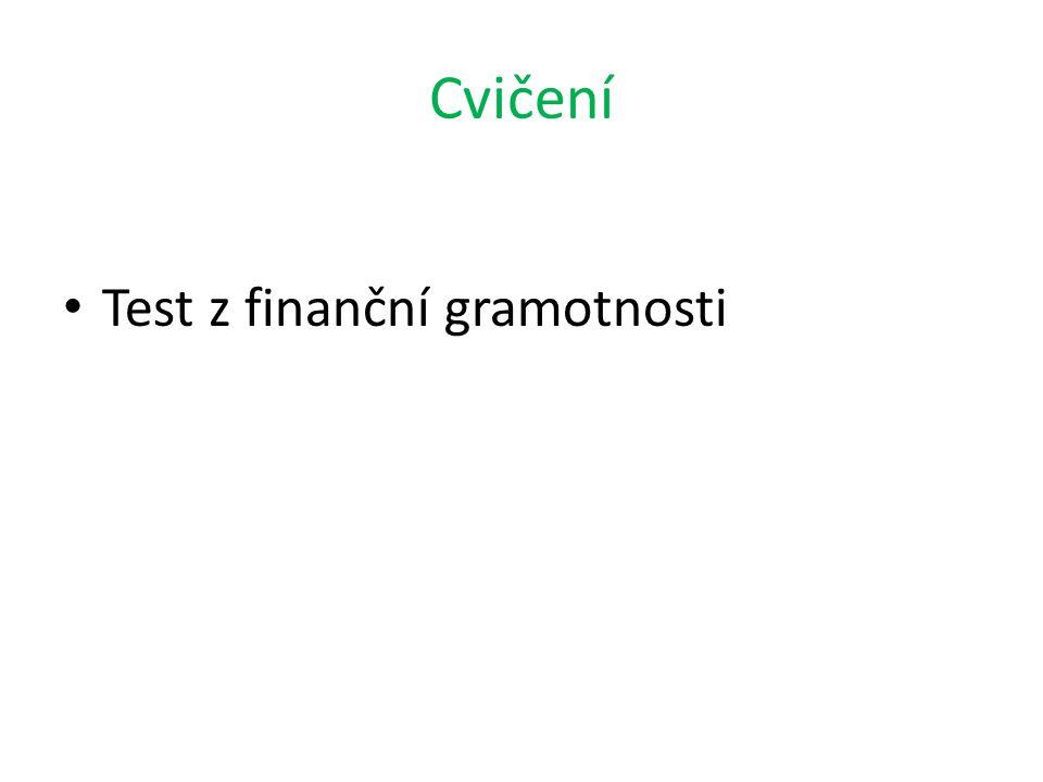 Cvičení Test z finanční gramotnosti