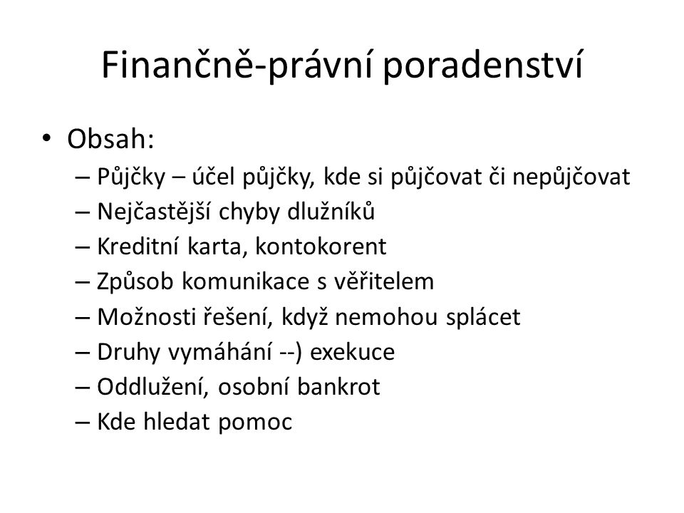Finančně-právní poradenství