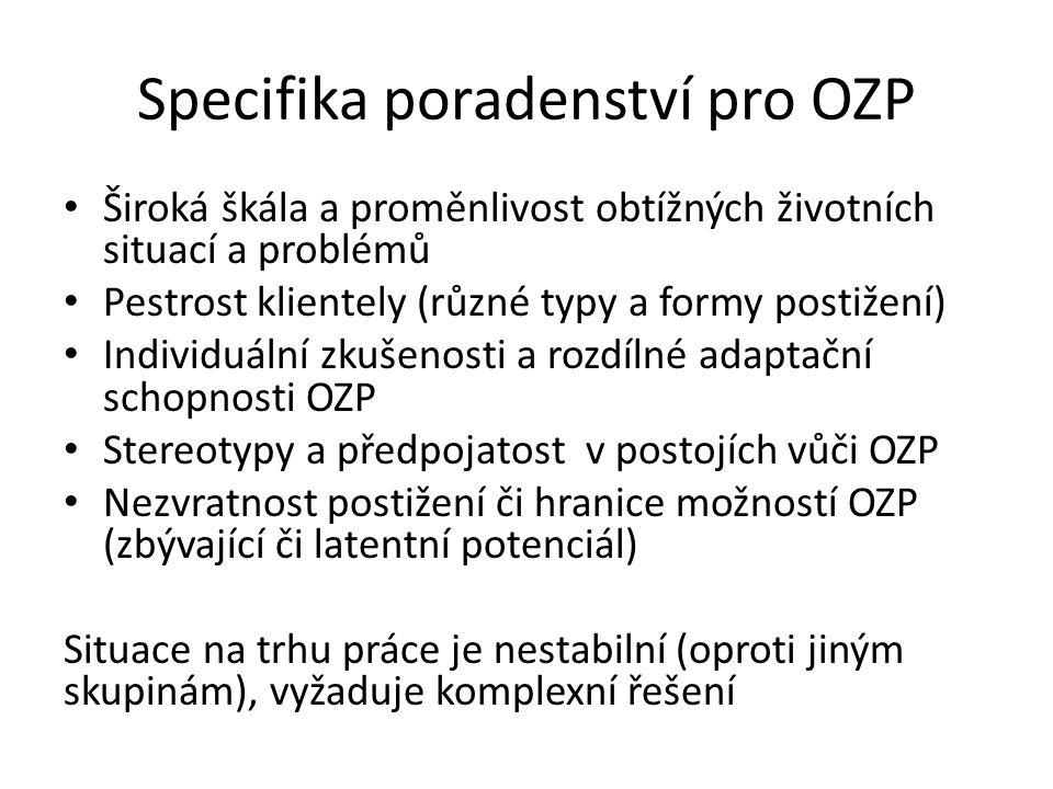 Specifika poradenství pro OZP