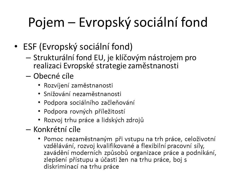 Pojem – Evropský sociální fond