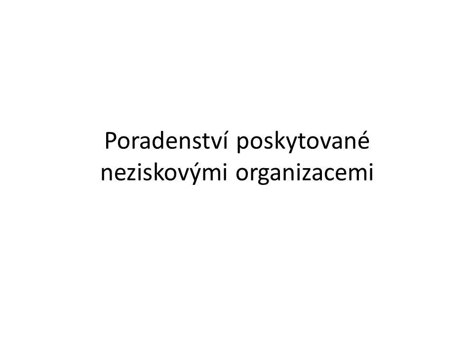 Poradenství poskytované neziskovými organizacemi