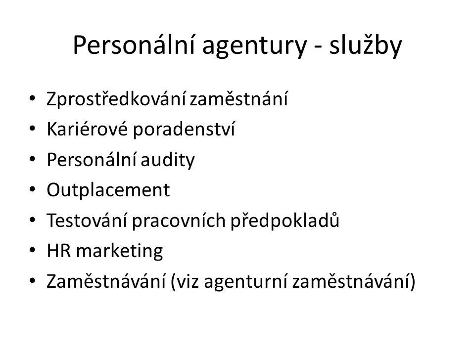 Personální agentury - služby