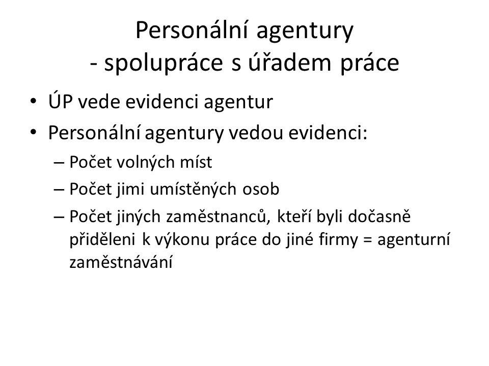 Personální agentury - spolupráce s úřadem práce