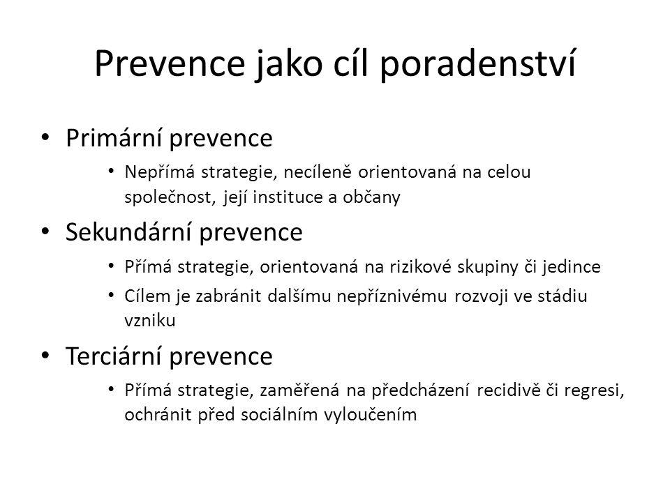 Prevence jako cíl poradenství