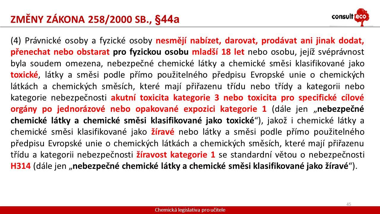 Chemická legislativa pro učitele
