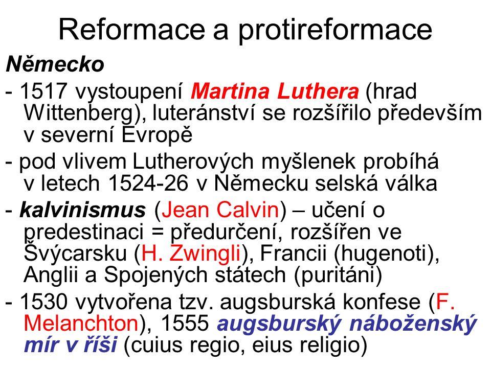 Reformace a protireformace
