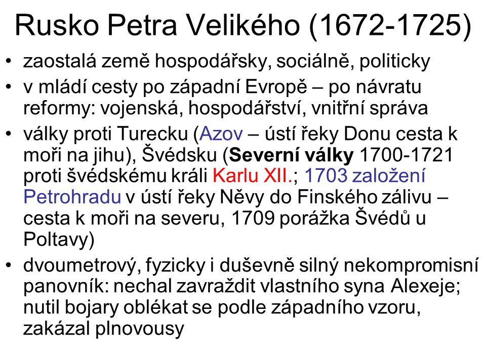 Rusko Petra Velikého (1672-1725)