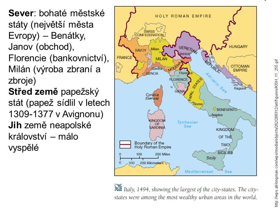 Střed země papežský stát (papež sídlil v letech 1309-1377 v Avignonu)
