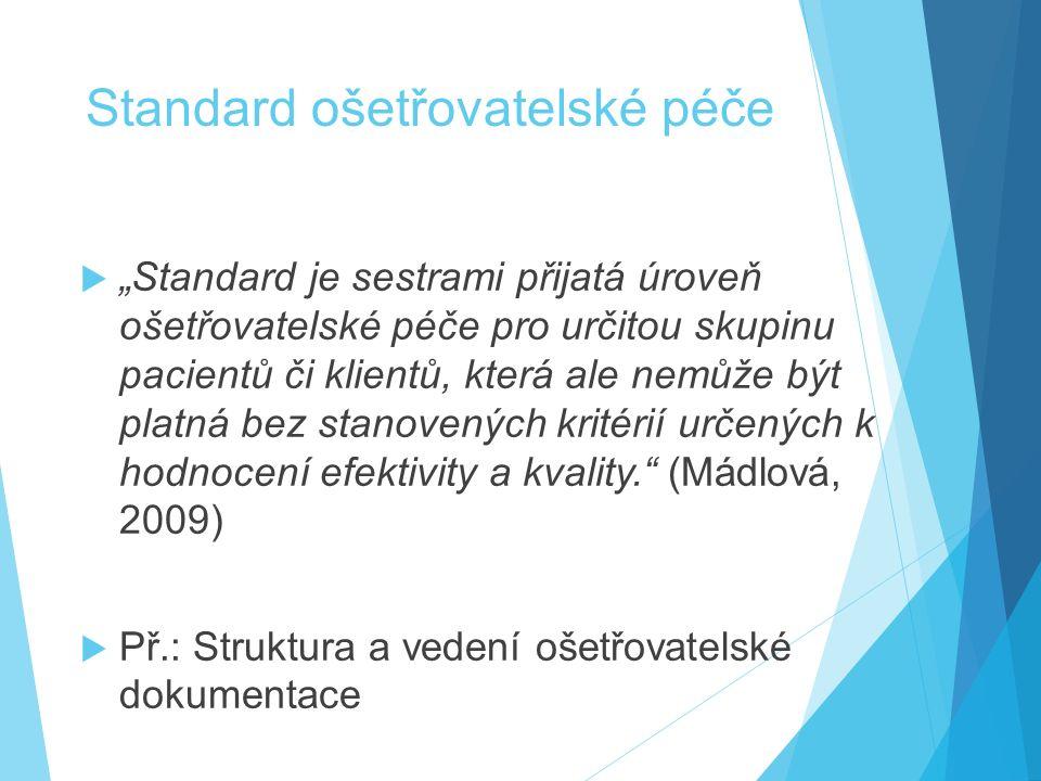 Standard ošetřovatelské péče