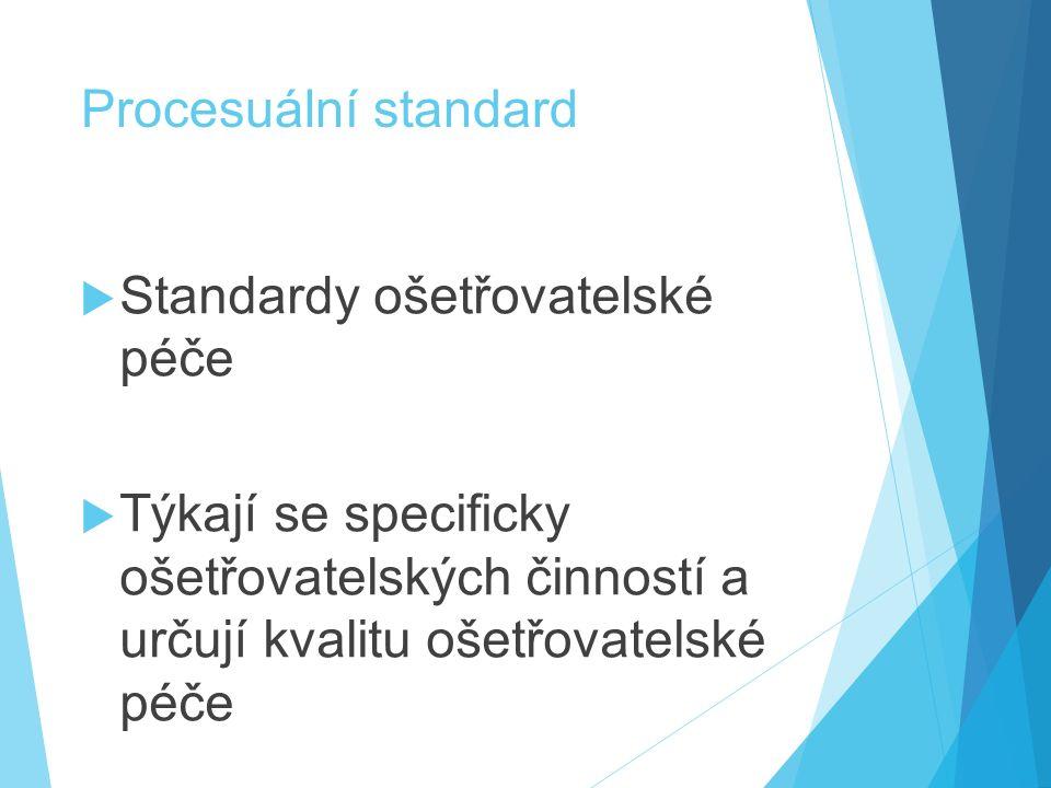 Standardy ošetřovatelské péče