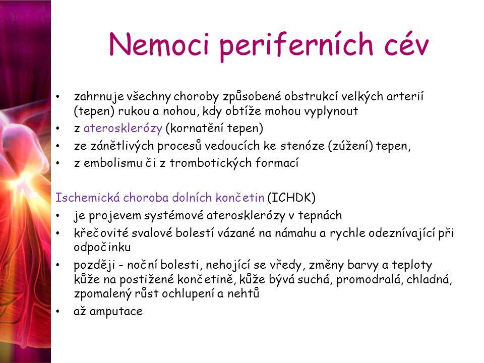 Nemoci periferních cév