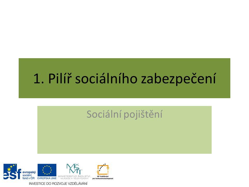 1. Pilíř sociálního zabezpečení