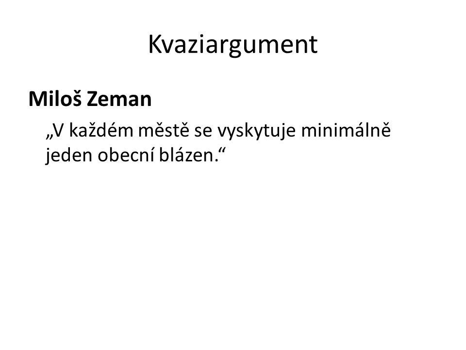 Kvaziargument Miloš Zeman