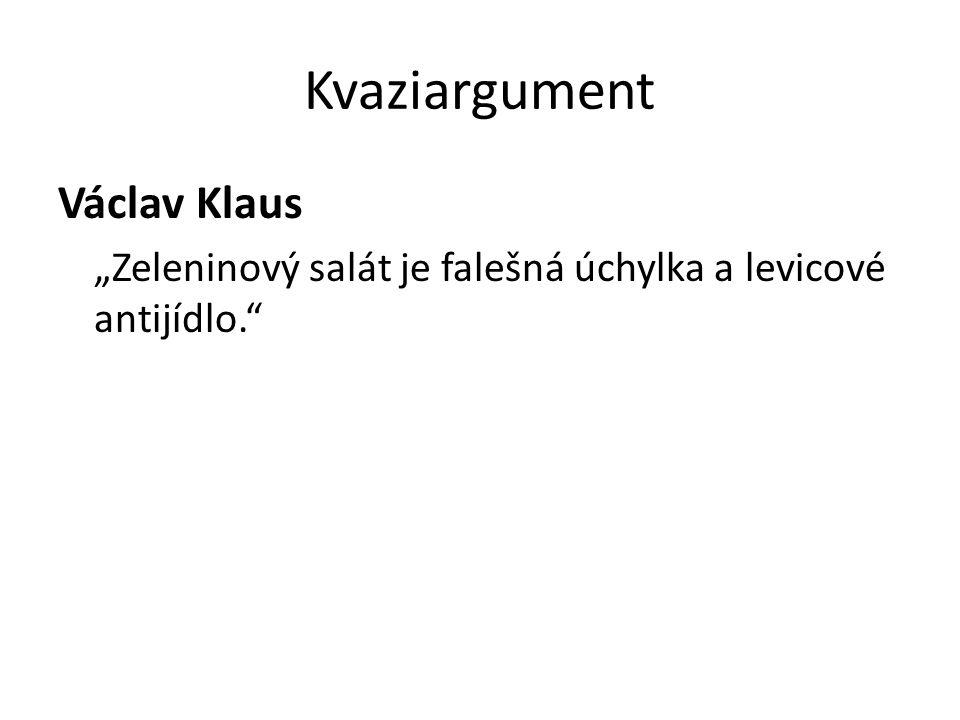 Kvaziargument Václav Klaus