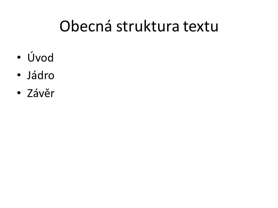 Obecná struktura textu