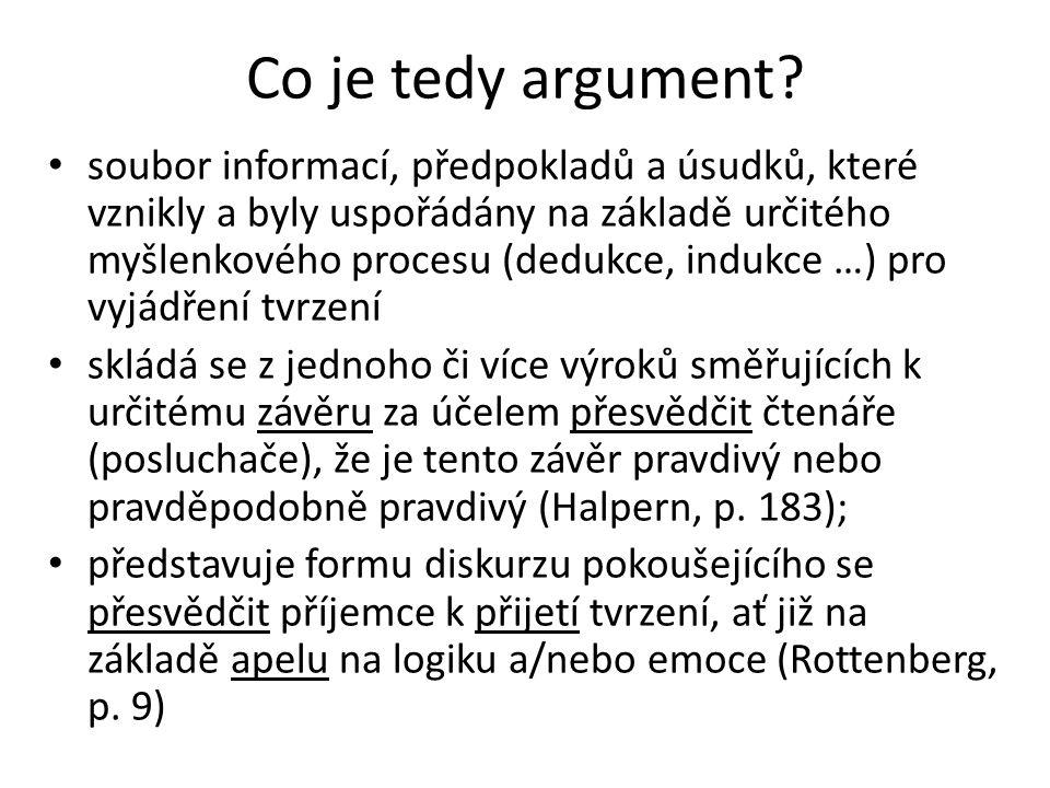 Co je tedy argument