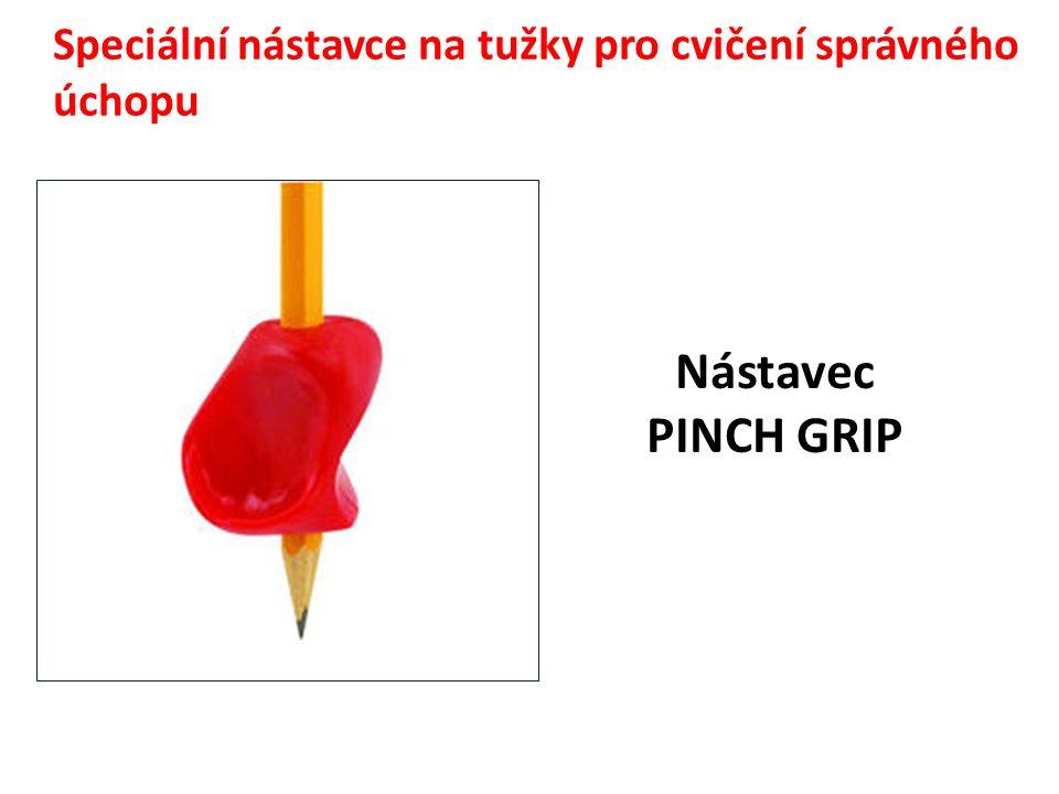 Speciální nástavce na tužky pro cvičení správného úchopu