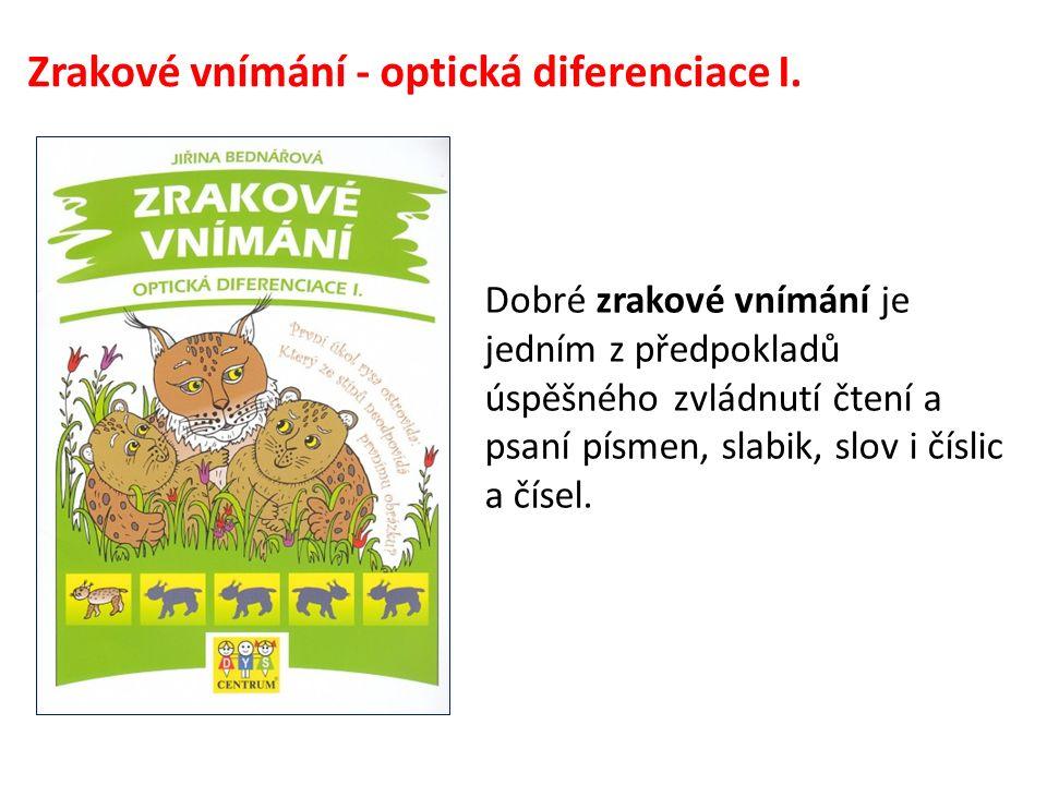 Zrakové vnímání - optická diferenciace I.