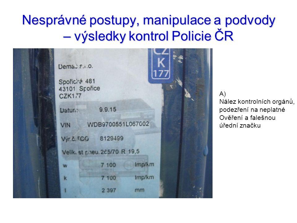Nesprávné postupy, manipulace a podvody – výsledky kontrol Policie ČR
