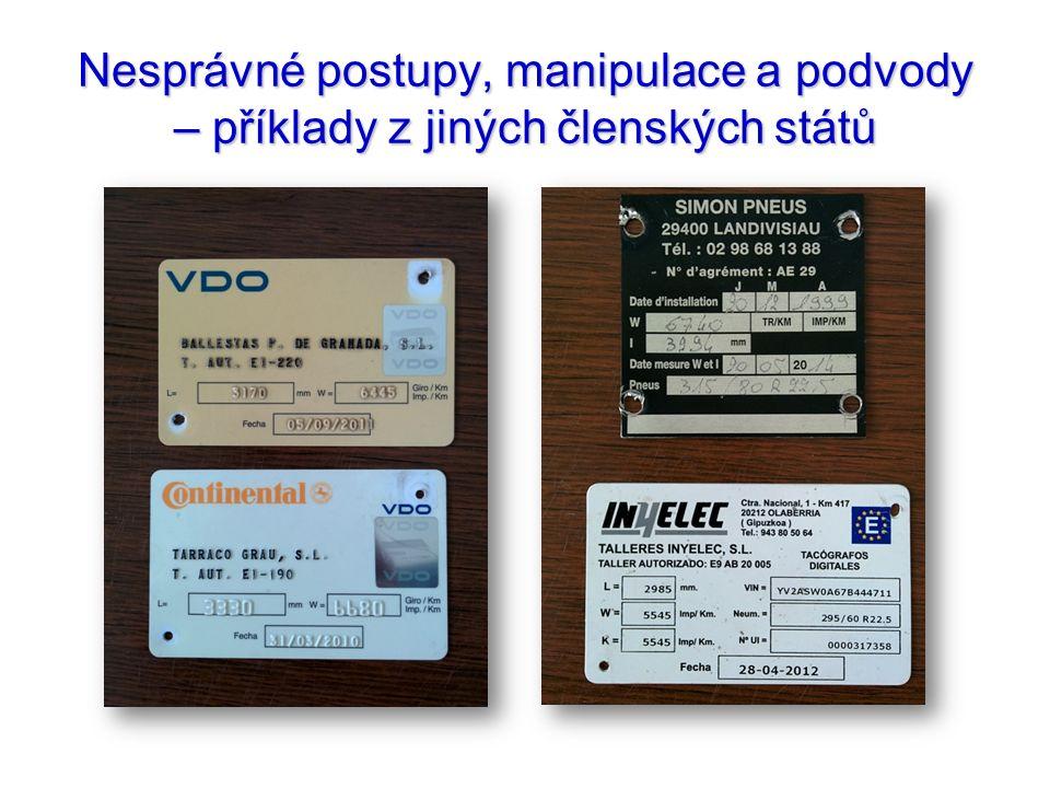 Nesprávné postupy, manipulace a podvody – příklady z jiných členských států