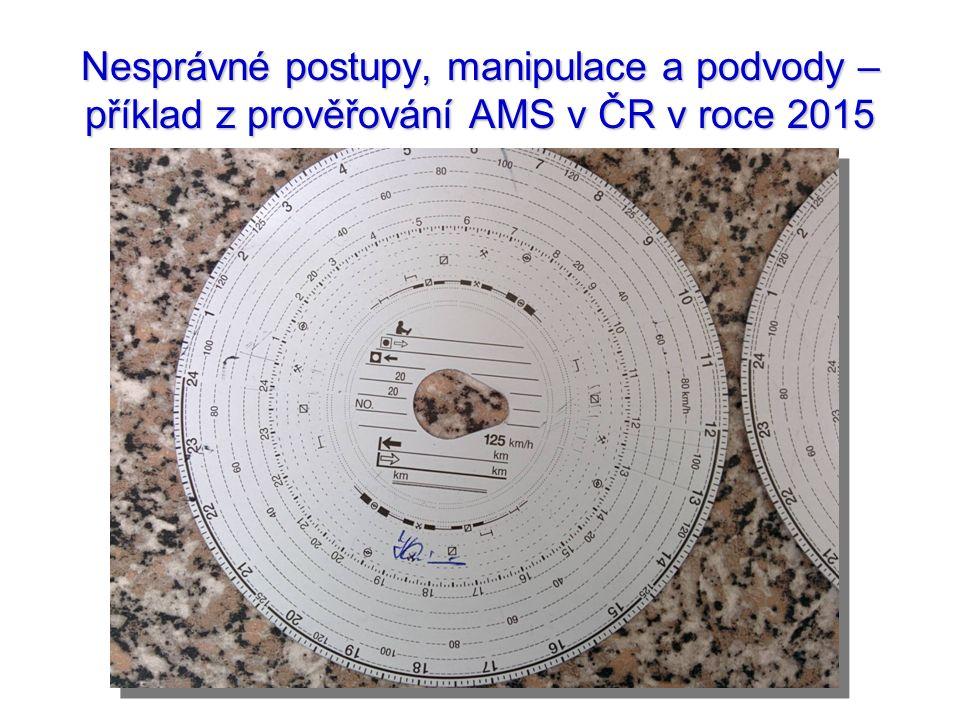 Nesprávné postupy, manipulace a podvody – příklad z prověřování AMS v ČR v roce 2015