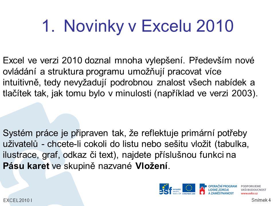Novinky v Excelu 2010